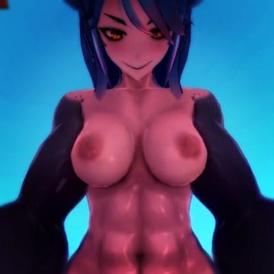 【Monster Girl Island】爆乳&筋肉がどエロいサメ娘に組み敷かれて騎乗位セックス!【3DCGアニメ,エロゲ】