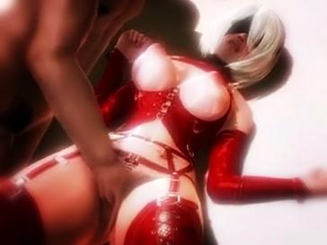 【3DCG,エロアニメ】ヨルハ二号B型が風俗店でキモおやじのお相手をすることに… (NieR:Automata)