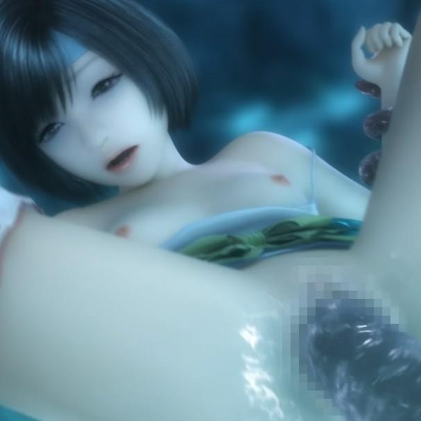 【FF7】貧乳ユフィちゃんが触手モンスターに襲われアナルもオ〇ンコも犯され失禁アクメする3DCGアニメ