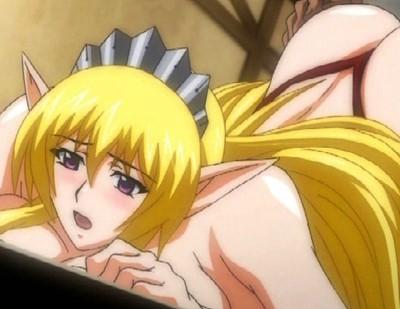 【エロアニメ】エルフの姫が場末の娼婦として売られ、キモ親父やゴブリンに犯される!