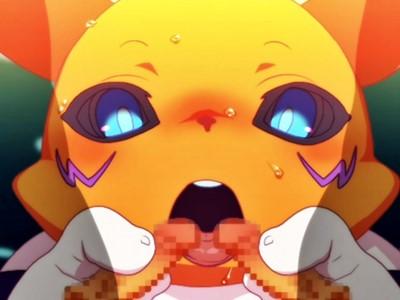 【デジモン】発情したレナモンが少年たちを優しく筆下ろし♪【エロアニメ】