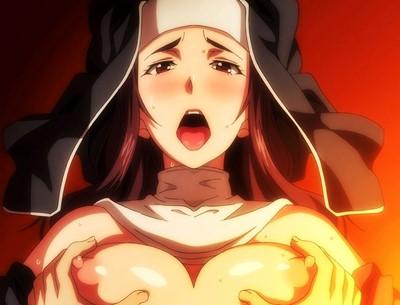 【エロアニメ】色気あふれるムチムチ巨乳の女教師&シスターと3Pセックス! (冥刻學園 受胎編)