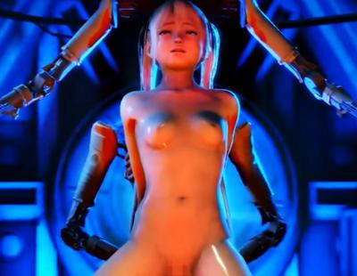 【DOA】マリー・ローズが機械に拘束され媚薬を盛られて極太ディルドでガン突きされてアヘ顔Wピース♪【3DCG】