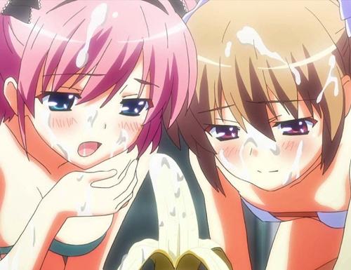 【エロアニメ】蒔菜と幸が極小水着でご奉仕ダブルフェラ!『たくさん出ましたね、マキちゃん』 (グリザイアの楽園)