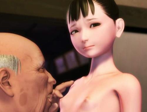 【発禁ロリアニメ】おい、マジか…..。ジジイがまだ胸も膨らんでいない女児に欲情してるんだが…..!?