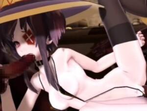 【3Dエロアニメ】めぐみんが黒人に輪姦レイプされアナルもオ〇ンコも犯される! (このすば)