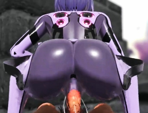 【3DCGアニメ】ケツがセクシーなアンドロイドゆかりと野外騎乗位ファック!