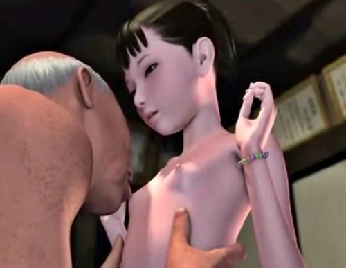 ロリ美少女たちがジジイたちの性処理に使われる!? (孫 前編+後編)