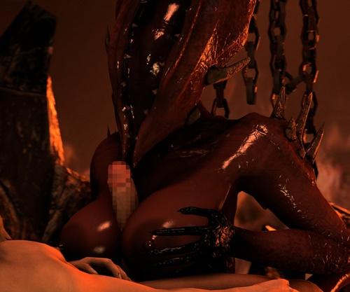 巨乳女悪魔が地獄で男どもを逆レイプ!狂気に満ちた地獄のサバイバルホラー『Agony』