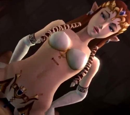 【ゼルダの伝説】ゼルダ姫が騎乗位で腰を振りまくるエロ動画【3DCGアニメ】