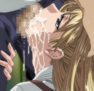 【エロアニメ】金髪美少女が強力精力剤を飲んだデブ男に好き放題犯される!
