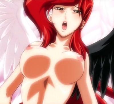 【百合・レズ】出てくる天使全員ふたなりペニス持っていますwww微乳女神が百合レイプされて感じまくりアクメ!!