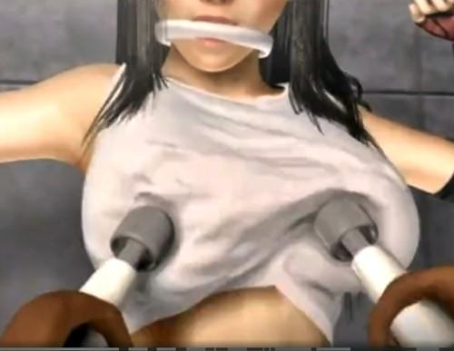 【FF7】敵に捕まったティファが巨乳おっぱいをダブル電マで責められて悶絶絶頂