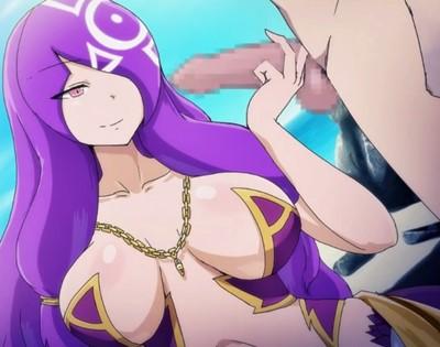 【モン娘・逆レイプ】ゴルゴーン娘の魔眼で石化させられ、唯一生身のチ〇ポを責められちゃう♪(もんむすに征服された世界)