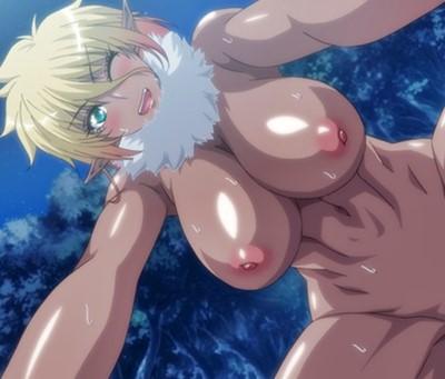「やっぱりニンゲンのチ〇ポには勝てなかったよ…。」ダークエルフ来襲!→媚薬セックスであっさり撃退www『OVA ようこそ! スケベエルフの森へ #2』