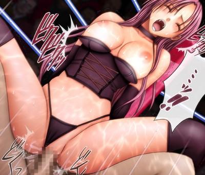 【クリムゾン】女格闘家がリングの上で公開凌辱!主人環視の中、無様な姿を晒し派手にイクっ!