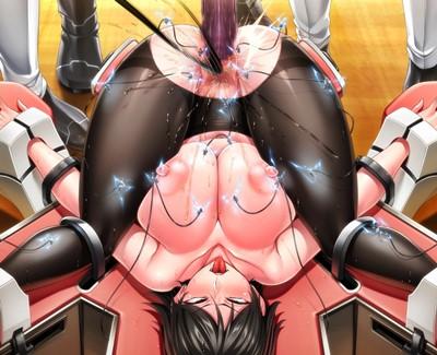 【監獄アカデミア】マンぐり返しで拘束されて、イボイボディルド・電気拷問されて潮吹きアクメする女将校!