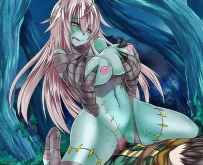 【モン娘・逆レイプ】青肌ゾンビ娘の改造マ〇コが気持ち良すぎて腰が止まらないwww