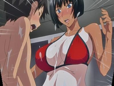【おねショタ】褐色日焼けのお姉さんがエロ過ぎて思わずぶっかけてしまった結果…!?