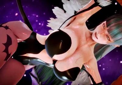 エロ過ぎボディの女悪魔がおっぱい揺らしまくってセクロス!【ハニーセレクト】