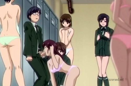 【ハーレム】女子更衣室を覗いていたら着替え中のJKに見つかり集団逆レ〇プされちゃいました…!