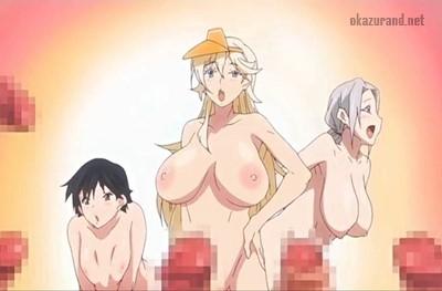 ビーチに全裸のお姉さんが!?ヤリたい盛りの男子学生は速攻でフル勃起です♪