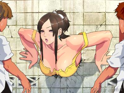 裸エプロンの人妻の壁尻はこちらです♪道行くクソガキどもに見つかってヤラれちゃいます!