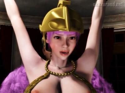 【ワンピース】これは神乳3DCG!囚われの爆乳剣闘士・レベッカの性奴隷生活!!