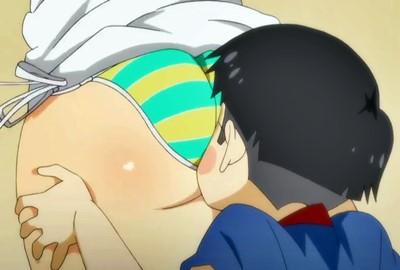 【おねショタ】女教師がエロガキのお願いで巨尻に顔を埋められる.....!
