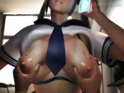 JKおっぱい柔らけ~♪スマホ片手で舐めた援交する女に生ハメの制裁!!(梅麻呂3D)