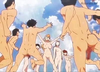 全裸の外人お姉さんたちを目の前に、我慢出来ずに群がる男子生徒たち.....!(師走の翁)