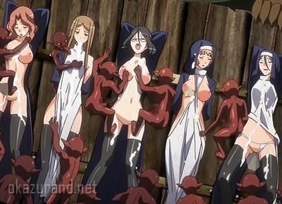 魔物「開門しなきゃ、シスターの処女を犯すゾ!!」女たちを人質に取られて敗北する姫騎士たち.....!