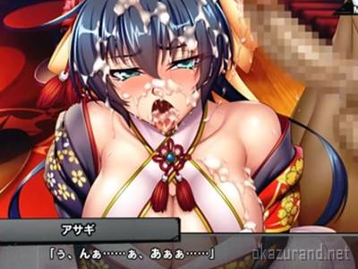 【対魔忍RPG】娼婦に堕ちた井河アサギが新年早々ライブセックスで絶倫巨根を咥え込む!
