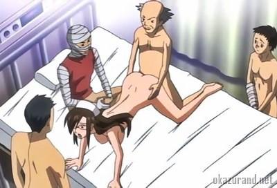 【輪姦】ドSなナースのお姉さんが患者のじいさんたちに囲まれて輪姦される!