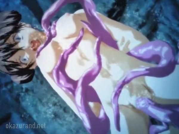 中国特殊工作員の3Dエロアニメ!トラップに掛かった女の子が水中魔手に全身の穴を犯される!!(チャイナ・インフェルノ)