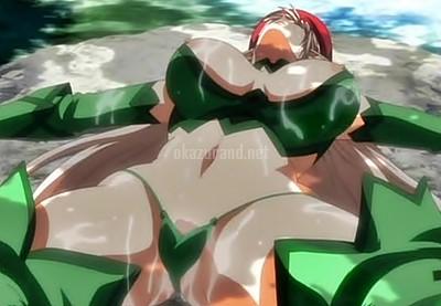 全裸の美女エルフと汗だくになって大自然・露出・筋トレ!(クイーンズブレイド)