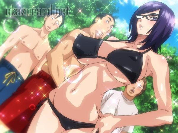 【OVAメガネnoメガミ #2】早速、第2話が登場!お姉ちゃんとプールに行ったらドエロい水着で周りの男たちフル勃起www