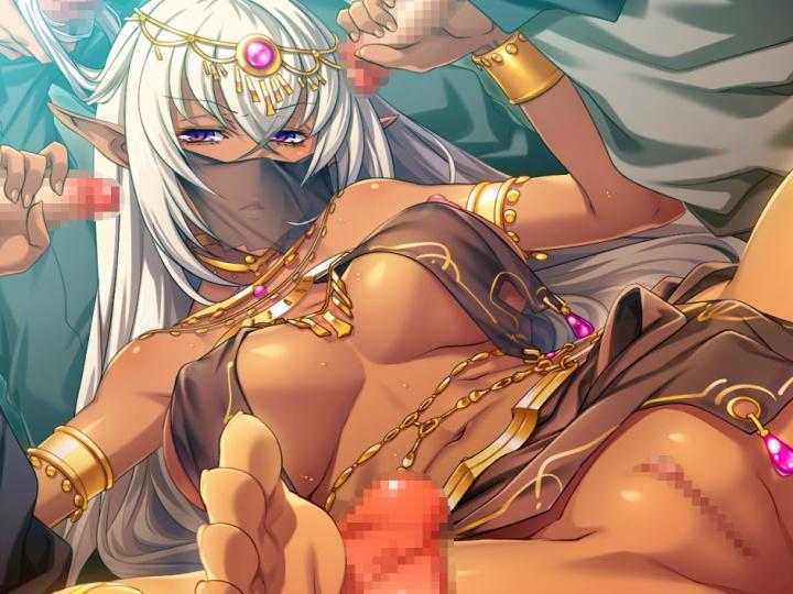 【黒獣2】純血ダークエルフの美姫が男たちに群がられ、穴という穴を犯される!