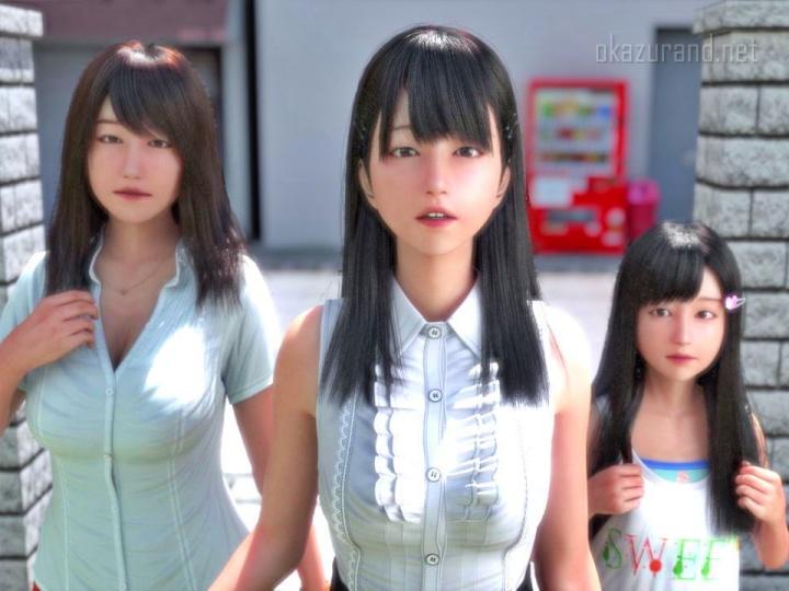 【にじいろばんび】ニートと天使とえっちな家族(体験版プレイ動画・3Dエロ画像)