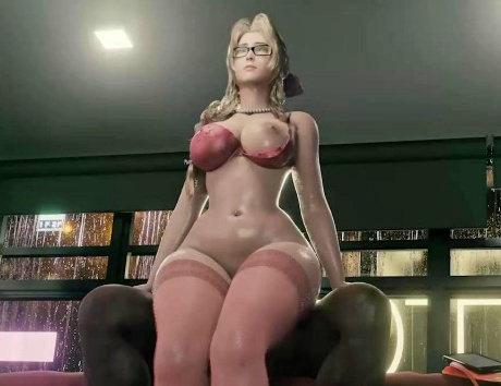 【FF7R】エアリスさん、海外アーティストによって豊満ボディにされてしまうwww(3Dアニメ)