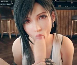 【FF7リメイク】ティファがめちゃくちゃ美味そうにチ○ポをしゃぶってくれる主観視点の3D動画