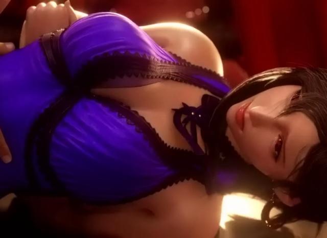 【FF7リメイク】コルネオの館で潜入がバレたティファ!風俗嬢コスで中出しバッドエンド!