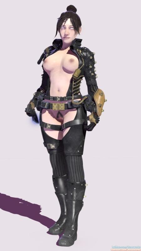 Apex Legends - オクタンとレイスの騎乗位セックス | レイスのフェラチオ 3DCG 01
