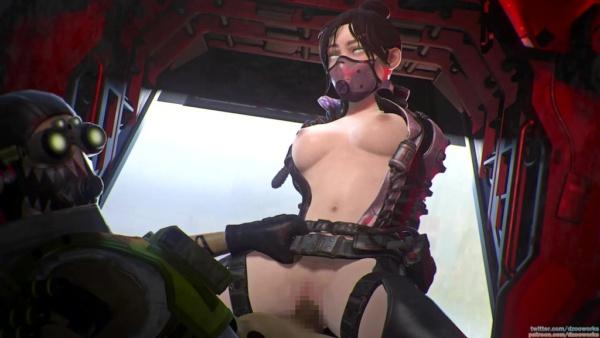 Apex Legends - オクタンとレイスの騎乗位セックス | レイスのフェラチオ 3DCG 05