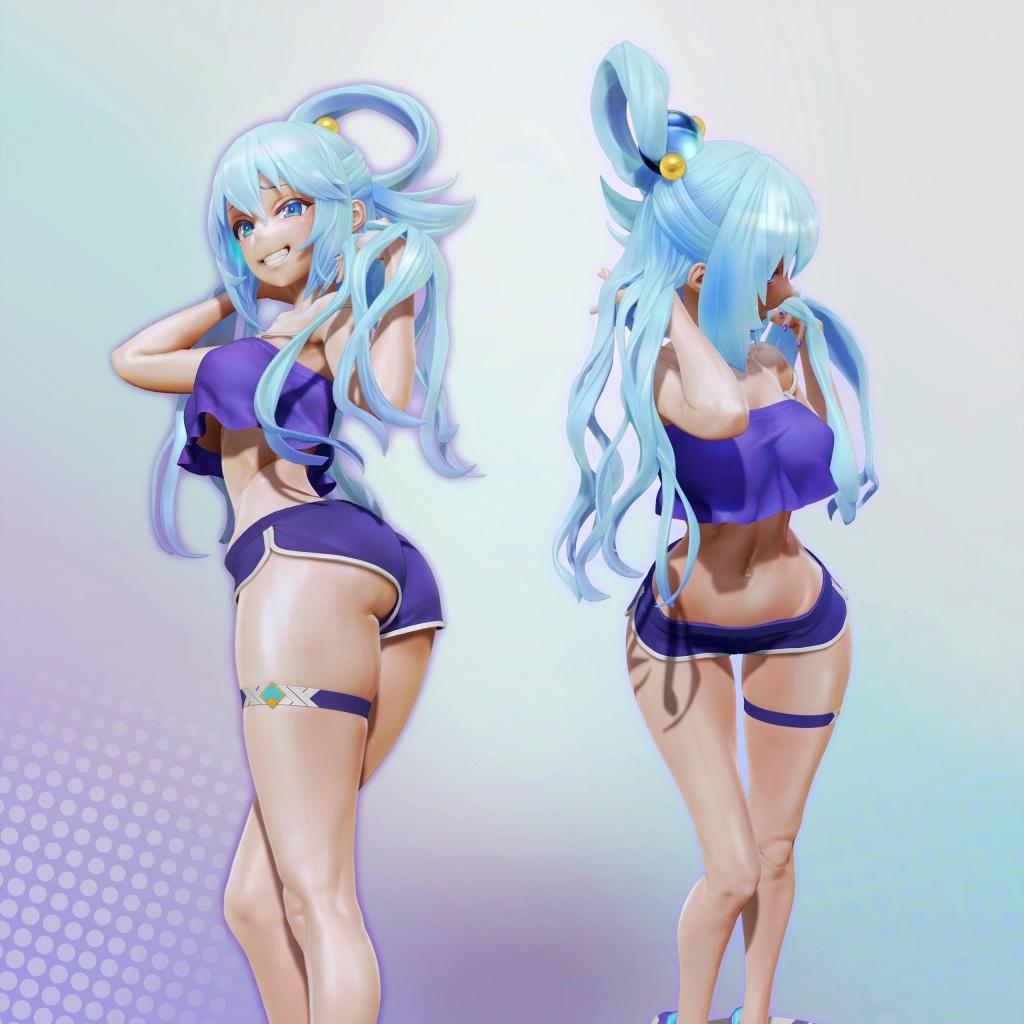 [このすば!] アクアの3Dフィギュアモデル(LESLyzerosix) 05