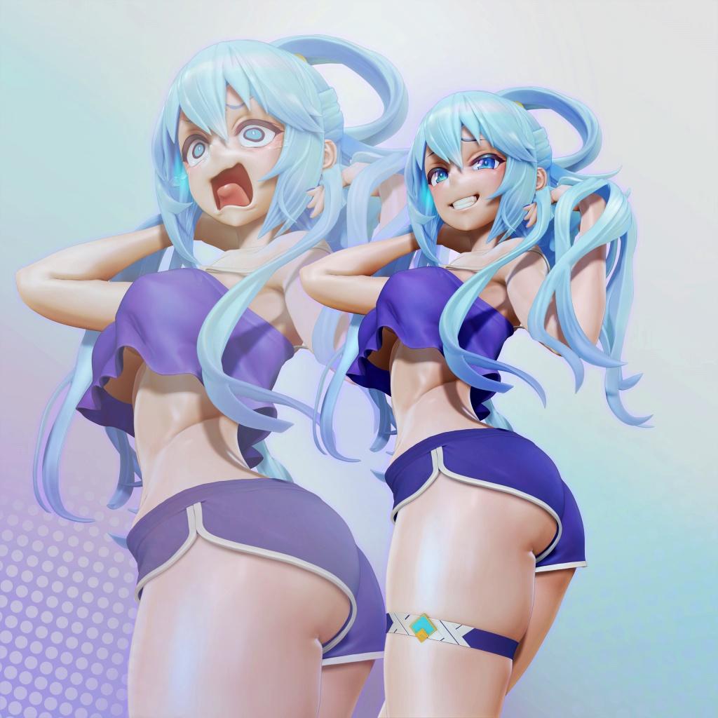 [このすば!] アクアの3Dフィギュアモデル(LESLyzerosix) 07