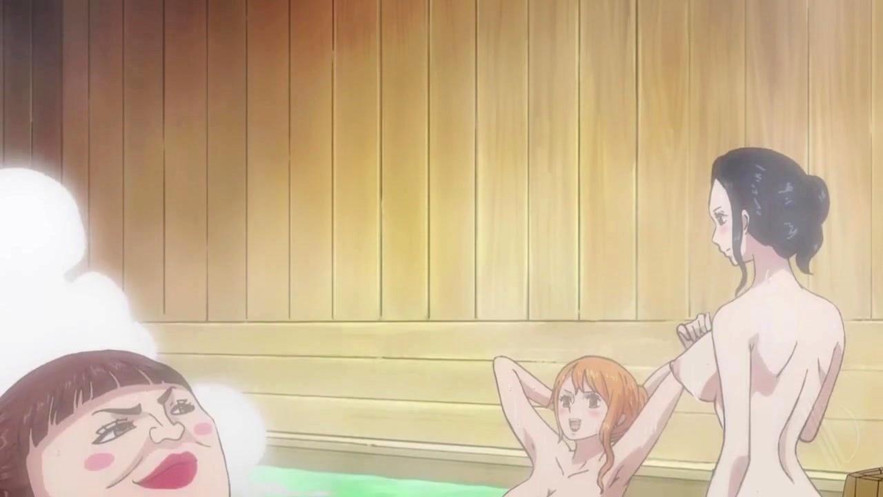 [ワンピース] ナミとロビンの温泉シーン 体験版【剥ぎコラ】 07