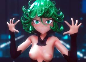 【ワンパンマン】タツマキちゃんのえちえちスレンダーボディを堪能できるストリップ3Dアニメ!
