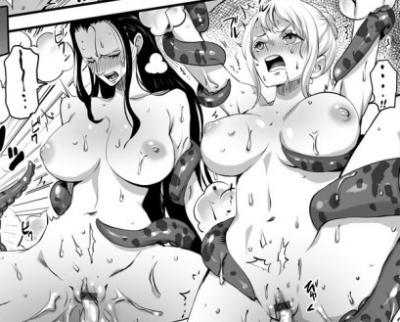 【ワンピース】「こん…なのぉ、気持ち…ッ、よすぎるぅ…!!」ナミとロビンがタコに触手責めされてヨがっちゃう!
