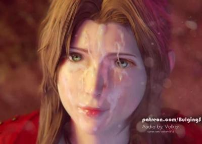 【FF7R】エアリスのキレイなお顔に顔射して白濁ザーメンでドロッドロぐちゃぐちゃに汚しまくる!(3Dアニメ)